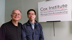 (r) Jun Ho Lee Visits Cox Institute